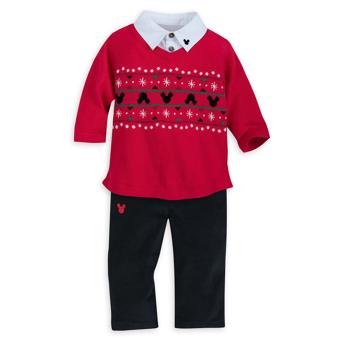 Santa Mickey Mouse Sweater And Pants Set For Baby Shopdisney