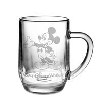 Image of Mickey Mouse Glass Mug by Arribas - Personalizable # 1