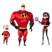 Image of Mr. Incredible, Violet, and Dash Doll Set - Disney Designer Collection PIXAR Animation Studios Series - Limited Edition # 1