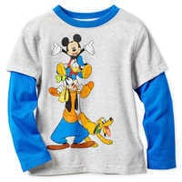 Image of Mickey Mouse and Friends Long Sleeve Layered T-Shirt for Boys # 1