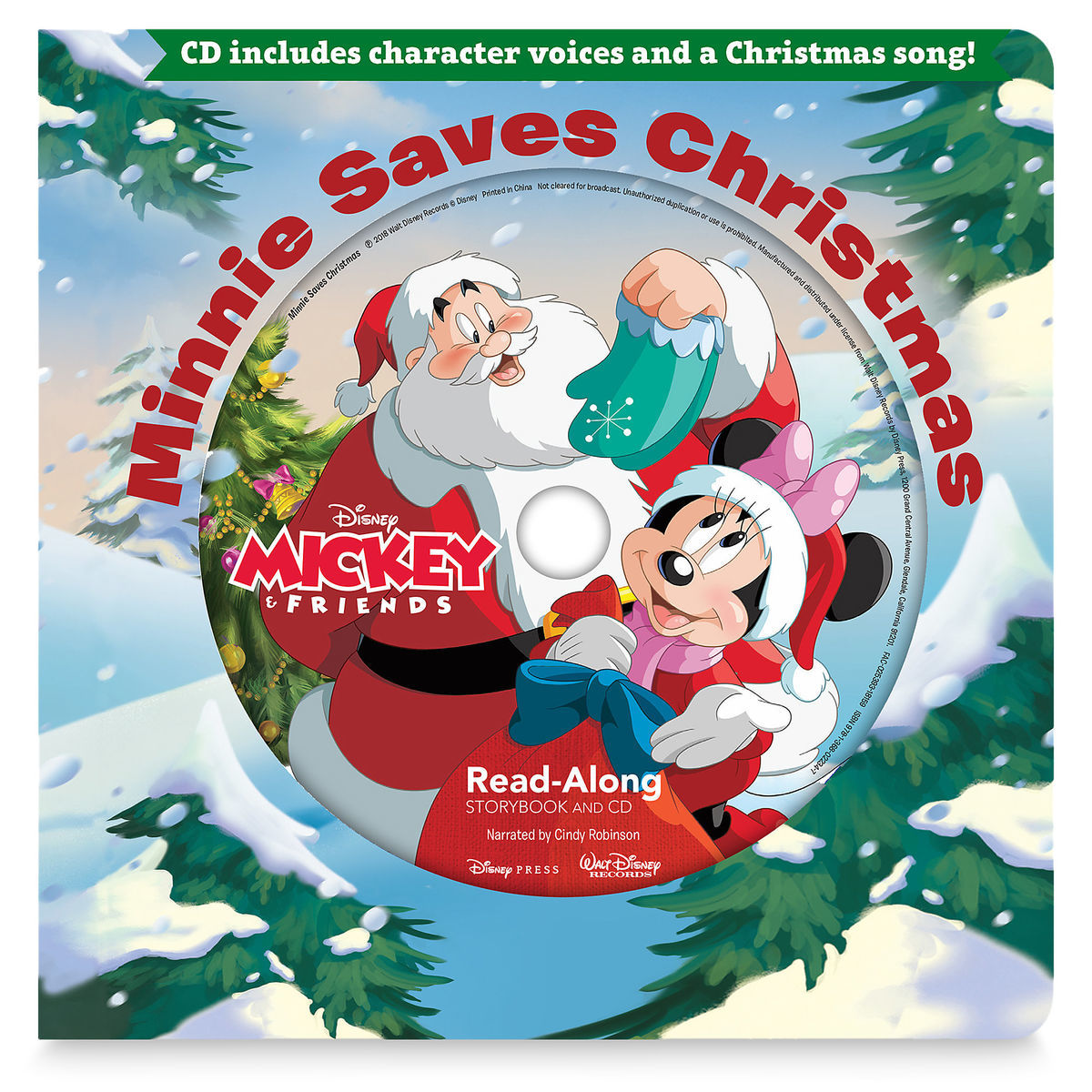 Minnie Saves Christmas Read-Along Storybook and CD | shopDisney