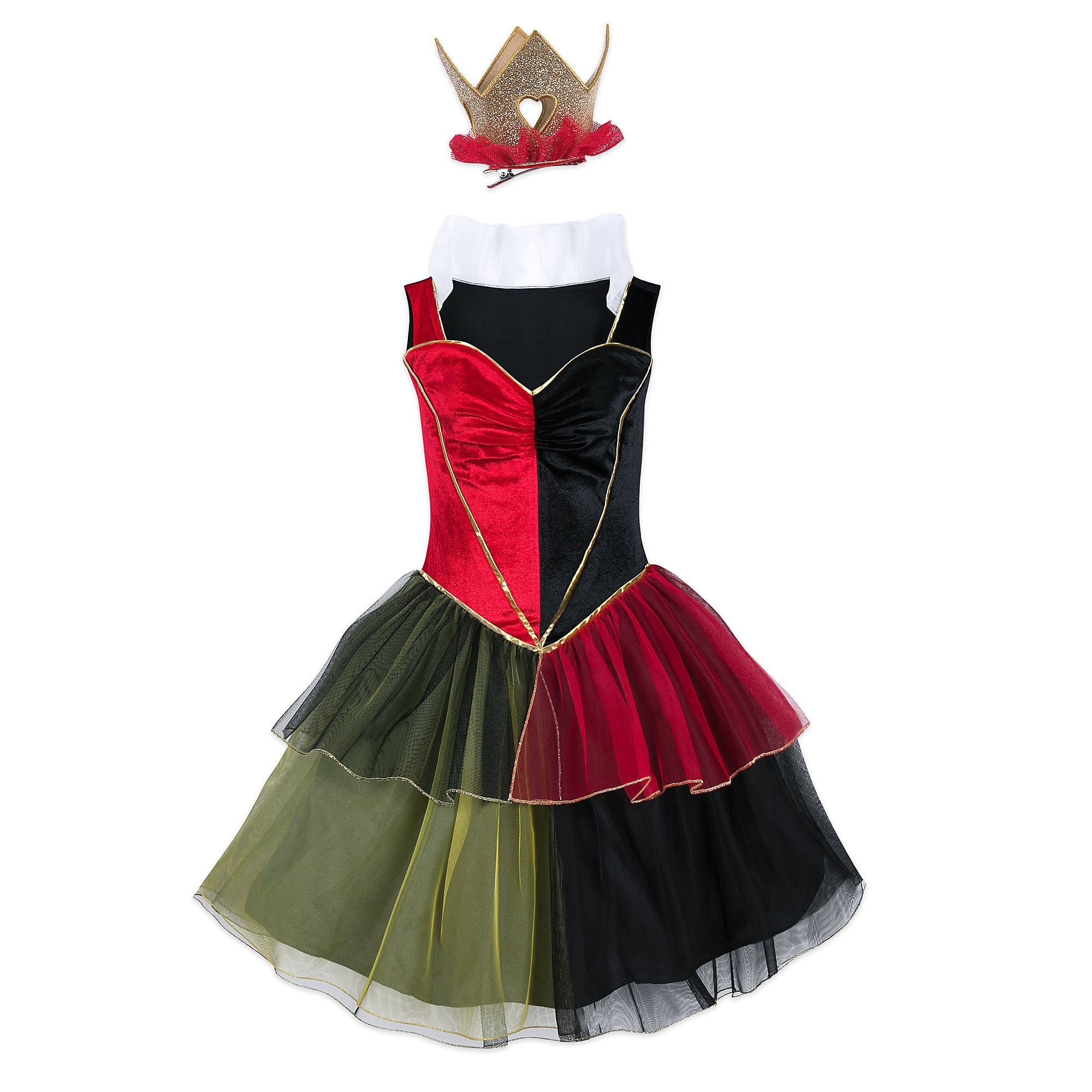 Queen of Hearts Costume with Tutu for Adults - Alice in