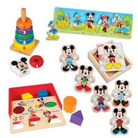Image of Mickey Mouse Deluxe Wooden Classic Toy Set by Melissa & Doug # 1