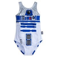 Image of R2-D2 Swimsuit for Girls - Star Wars # 2