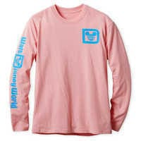 Image of Walt Disney World Logo Long Sleeve Tee for Adults - Pink # 1