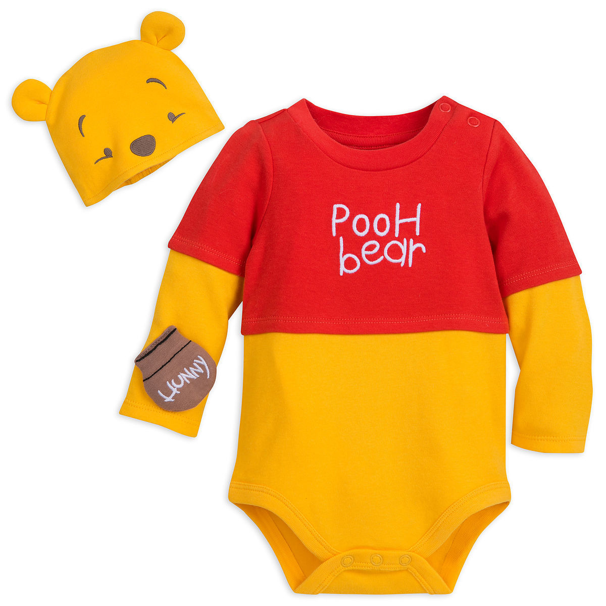 Product Image of Winnie the Pooh Costume Bodysuit Set for Baby   1 36cc735ec