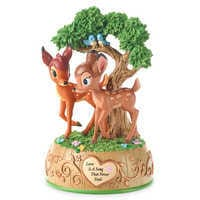 Image of Bambi and Faline Music Box Figurine by Precious Moments # 1