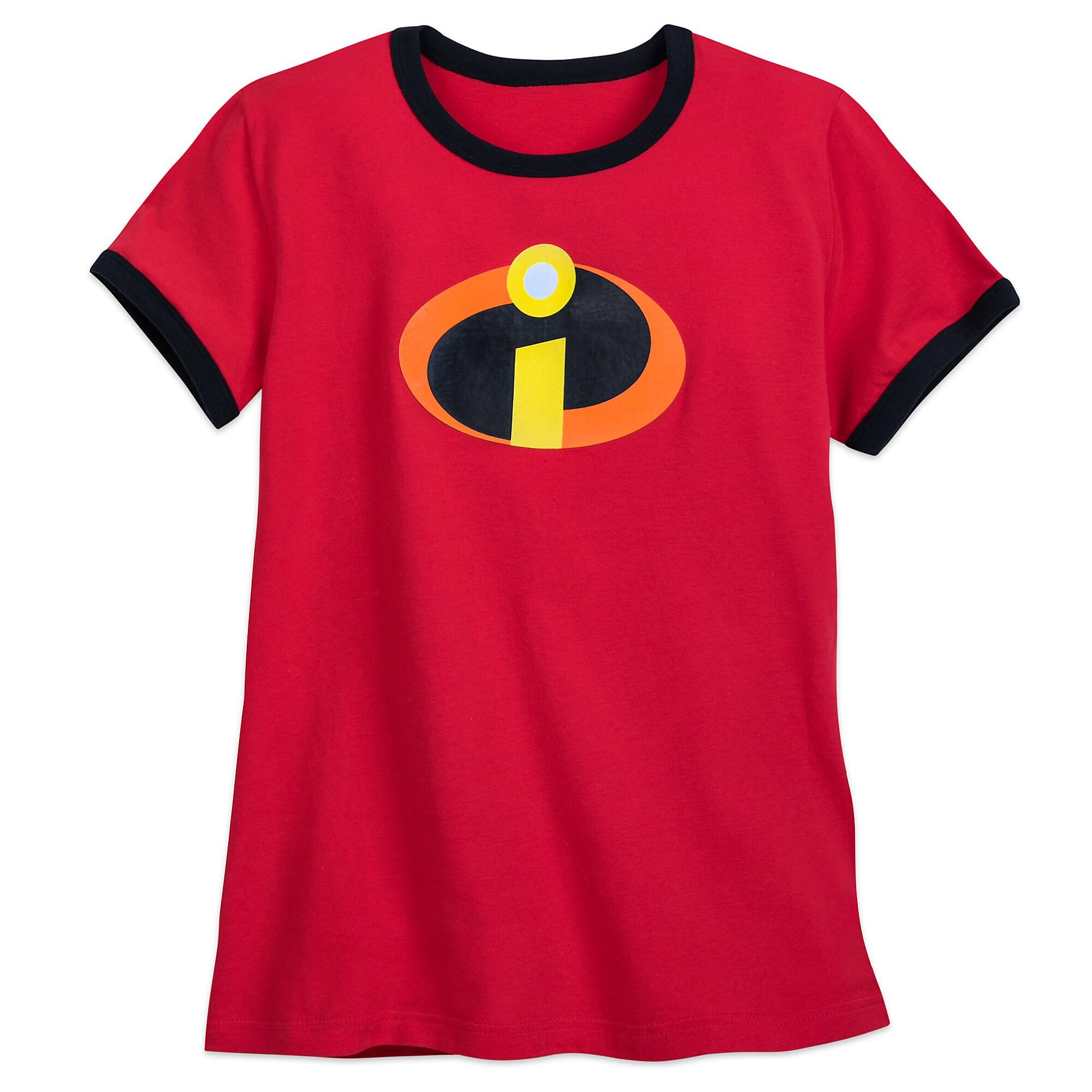 d8fff59a385bb Incredibles Logo Ringer T-Shirt for Women