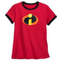 Image of Incredibles Logo Ringer T-Shirt for Women # 1