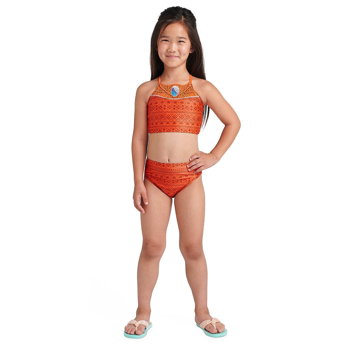1db48653af Product Image of Moana Deluxe Swimsuit Set for Girls   3