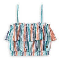 Image of The Little Mermaid Striped Crop Top for Girls by ROXY Girl # 1
