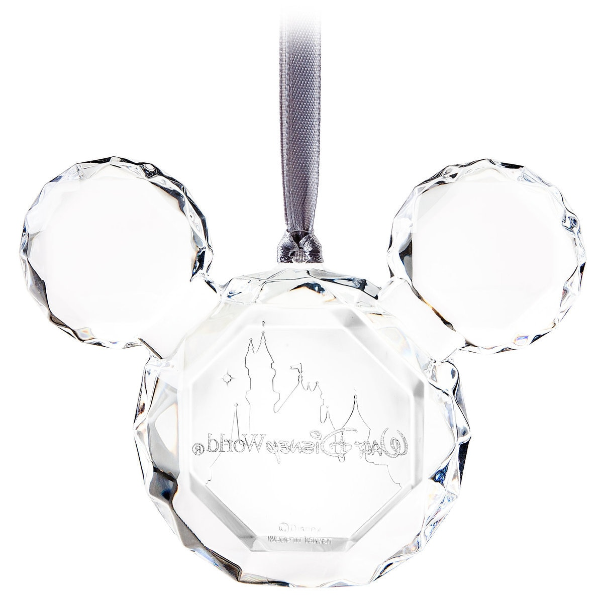 Mickey Mouse Icon Faceted Flat Ornament  Walt Disney World