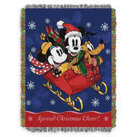 Image of Mickey Mouse and Friends Sleighride Woven Tapestry Throw Blanket # 1