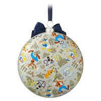 Image of Mickey Mouse and Friends Glass Disk Ornament - Disneyland 2019 # 2
