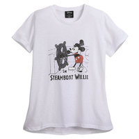 Mickey Mouse Steamboat Willie T-Shirt for Women by David Lerner