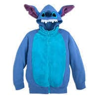 Image of Stitch Costume Zip Hoodie for Kids # 1