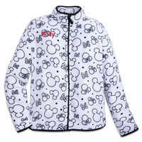 Image of Mickey and Minnie Mouse Zip Fleece Jacket for Women - Personalizable # 1