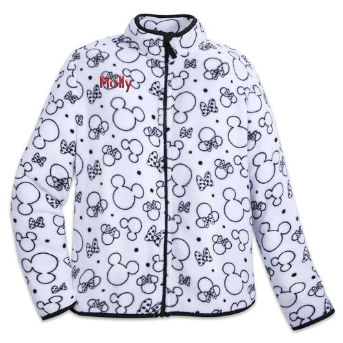 Mickey And Minnie Mouse Zip Fleece Jacket For Women