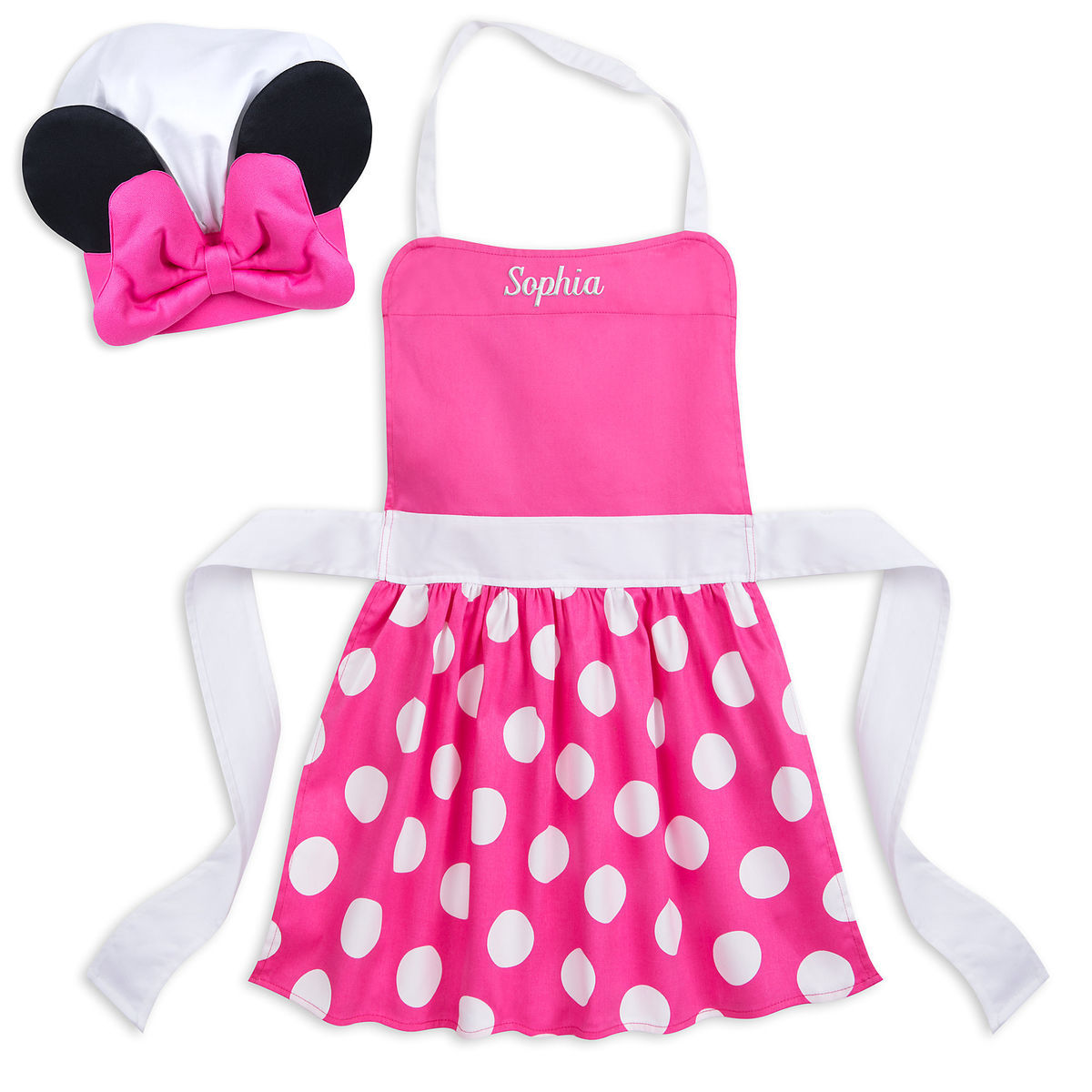Minnie Mouse Chefs Hat And Apron Set For Kids Disney Eats
