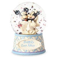 Image of Mickey & Minnie Mouse ''Happily Ever After'' Snowglobe - Jim Shore # 1