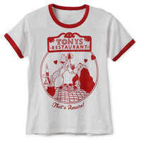 Image of Lady and the Tramp Ringer T-Shirt for Women # 1