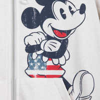 Image of Mickey Mouse Americana Zip Hoodie for Women # 4