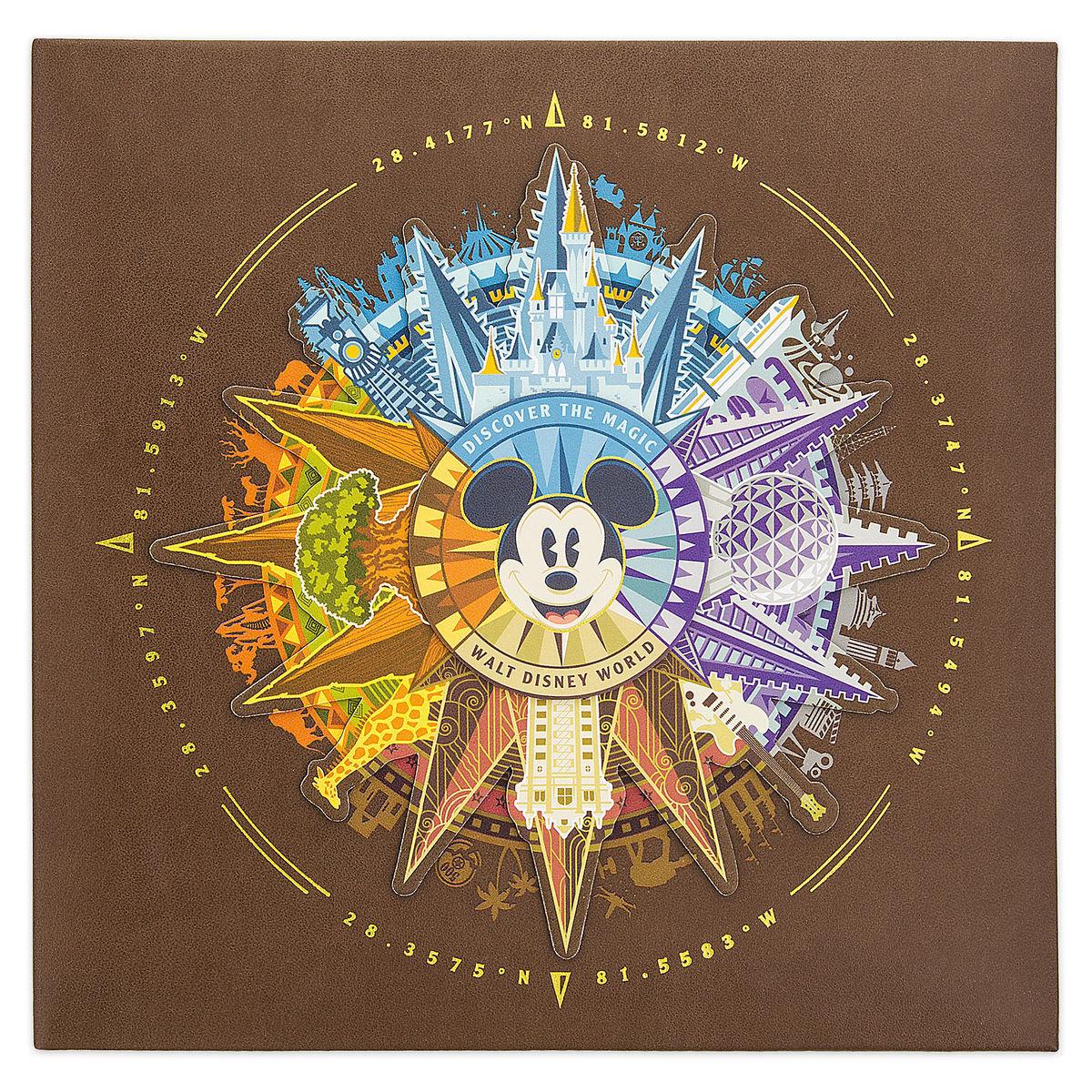 Mickey Mouse Compass Photo Album Walt Disney World Medium
