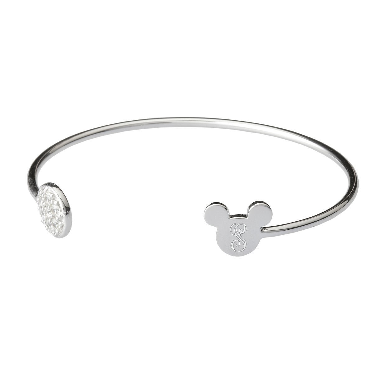 Product Image Of Mickey Mouse Bangle Bracelet Rebecca Hook Personalizable 1