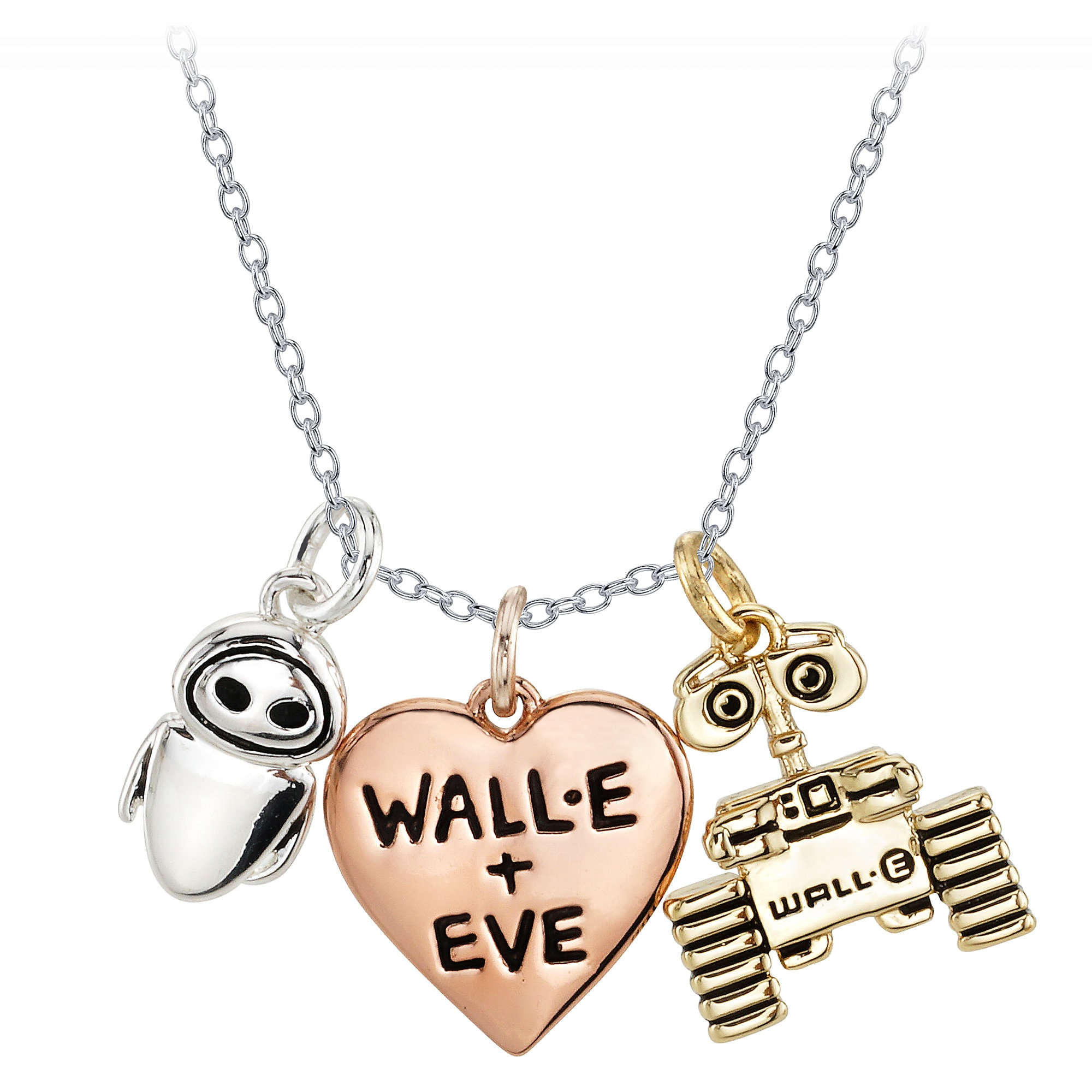 WALL•E and EVE Heart Necklace