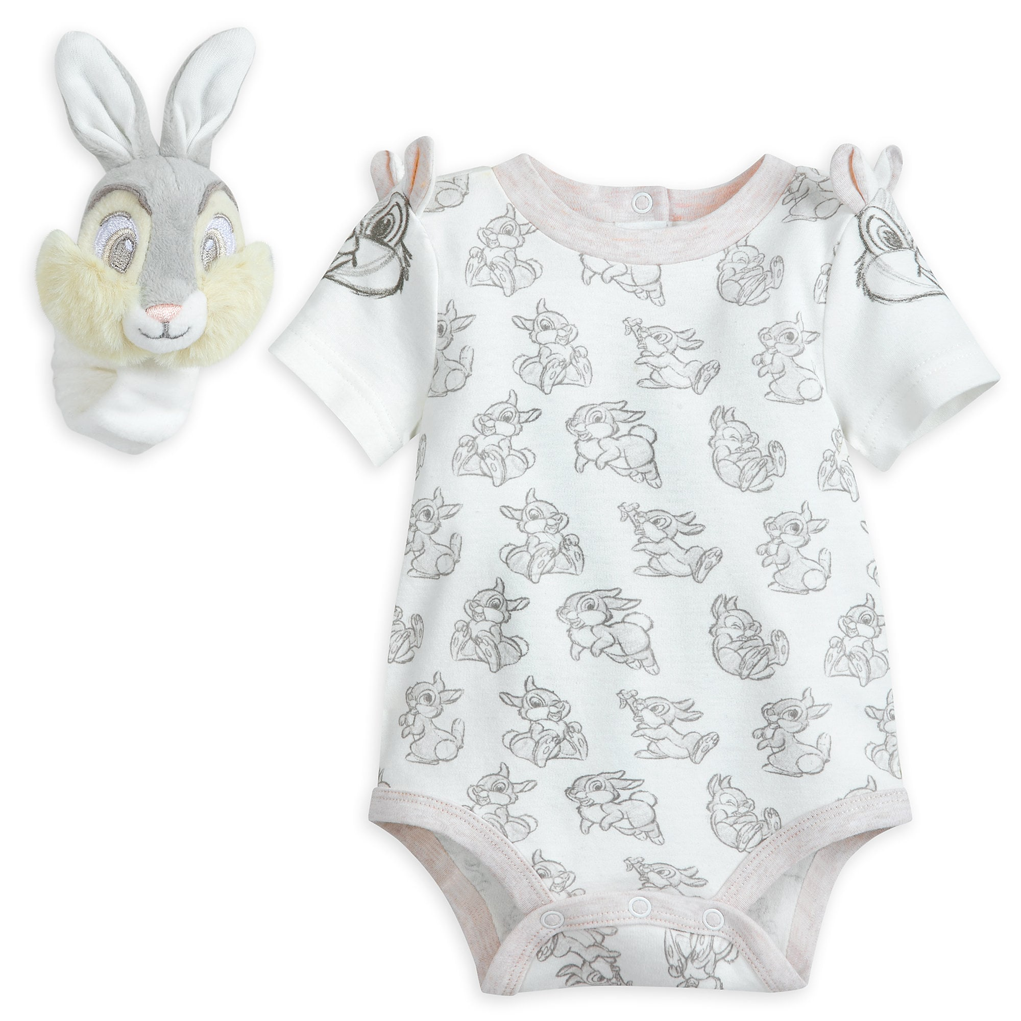 Thumper Bodysuit and Rattle Layette Set for Baby
