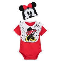 Image of Minnie Mouse Bodysuit, Bib, and Beanie Set for Baby # 1