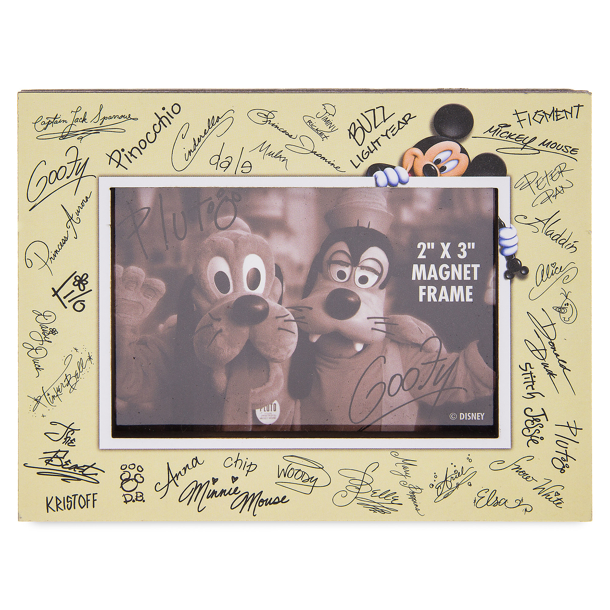 Mickey Mouse Signatures Photo Frame Magnet