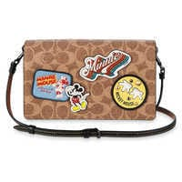 Image of Mickey Mouse Patch Hayden Foldover Crossbody Clutch by COACH # 1