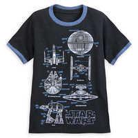 Image of Star Wars Blueprints Ringer T-Shirt for Boys # 1