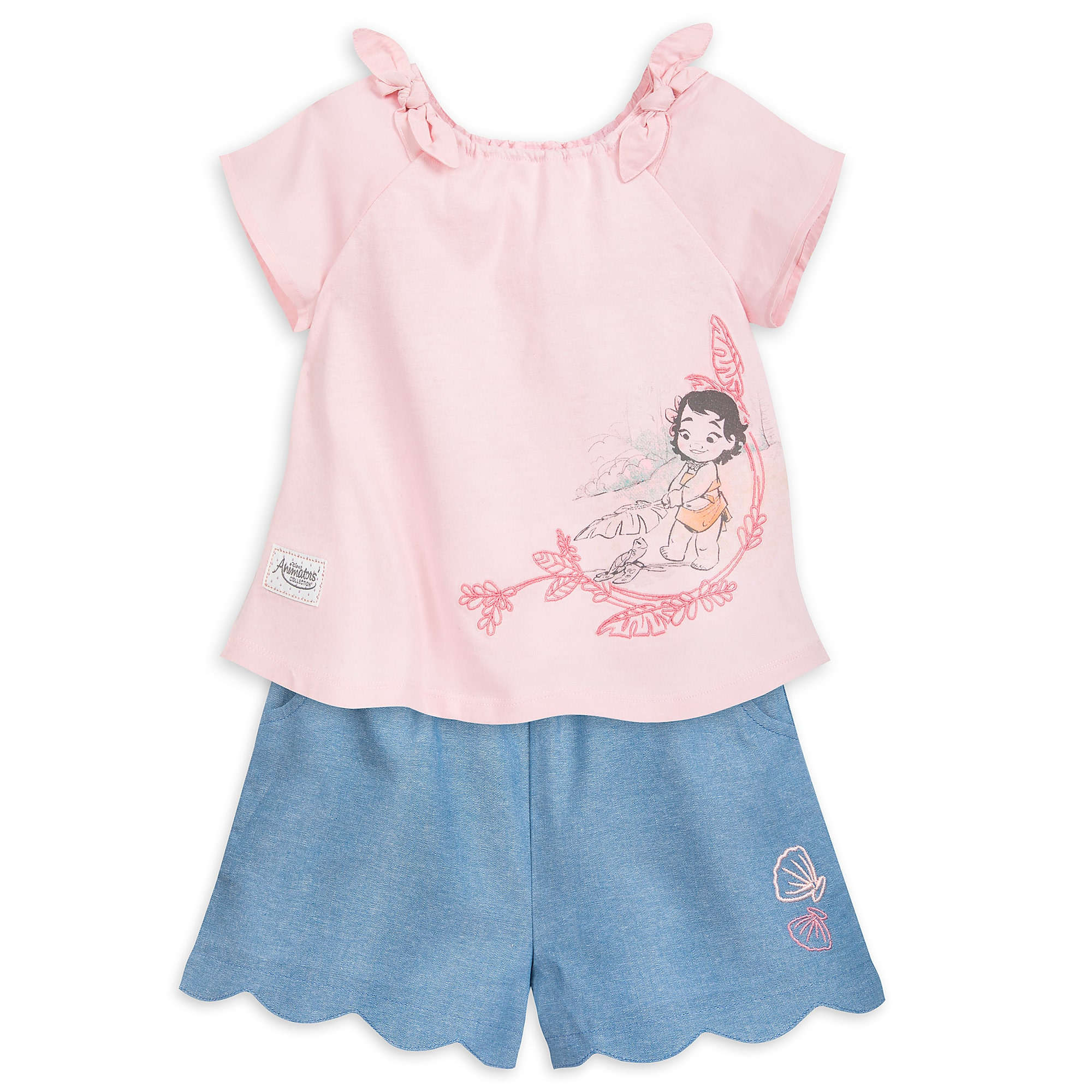 Moana Shirt and Shorts Set for Girls - Disney Animators' Collection