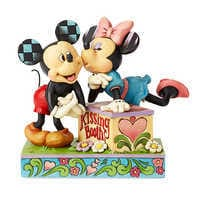Image of Mickey and Minnie Mouse ''Kissing Booth'' Figure by Jim Shore # 1