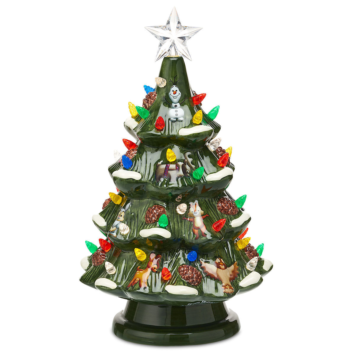 Product Image of Disney Retro Ceramic Light-Up Tree # 1