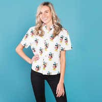 Image of Minnie Mouse Button Up Shirt for Women by Cakeworthy # 2