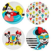 Image of Mickey and Minnie Mouse Plate Set - Disney Eats # 1