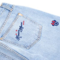 Image of Minnie Mouse Embroidered Boyfriend Jeans by SIWY # 7