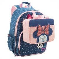 Image of Minnie Mouse Denim Backpack for Kids - Personalized # 4