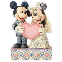 Image of Mickey and Minnie Mouse ''Two Souls, One Heart'' Figure by Jim Shore # 1