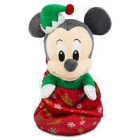 Image of Mickey Mouse ''My First Christmas'' Plush with Blanket Pouch  - Disney Babies - Small # 1