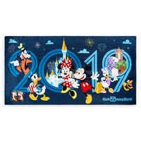 Image of Mickey Mouse and Friends Beach Towel - Walt Disney World 2019 # 1