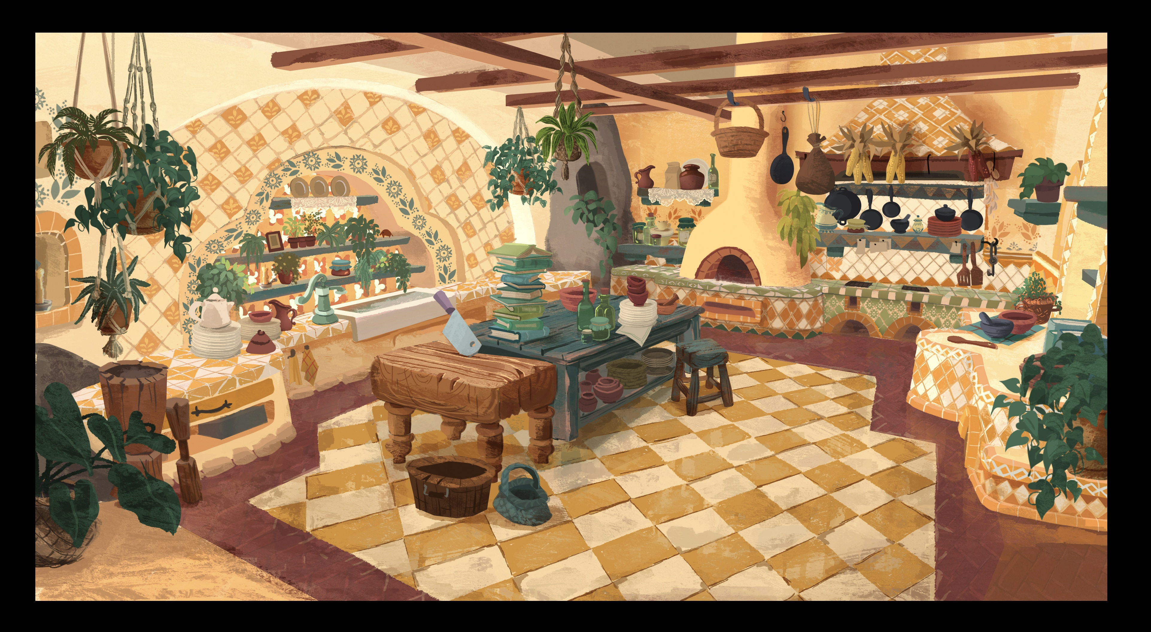 Final concept design for the kitchen.
