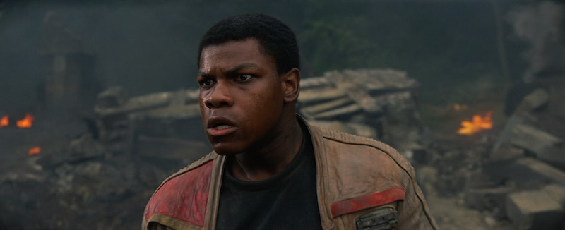 Finn witnessing the destruction on Takodana