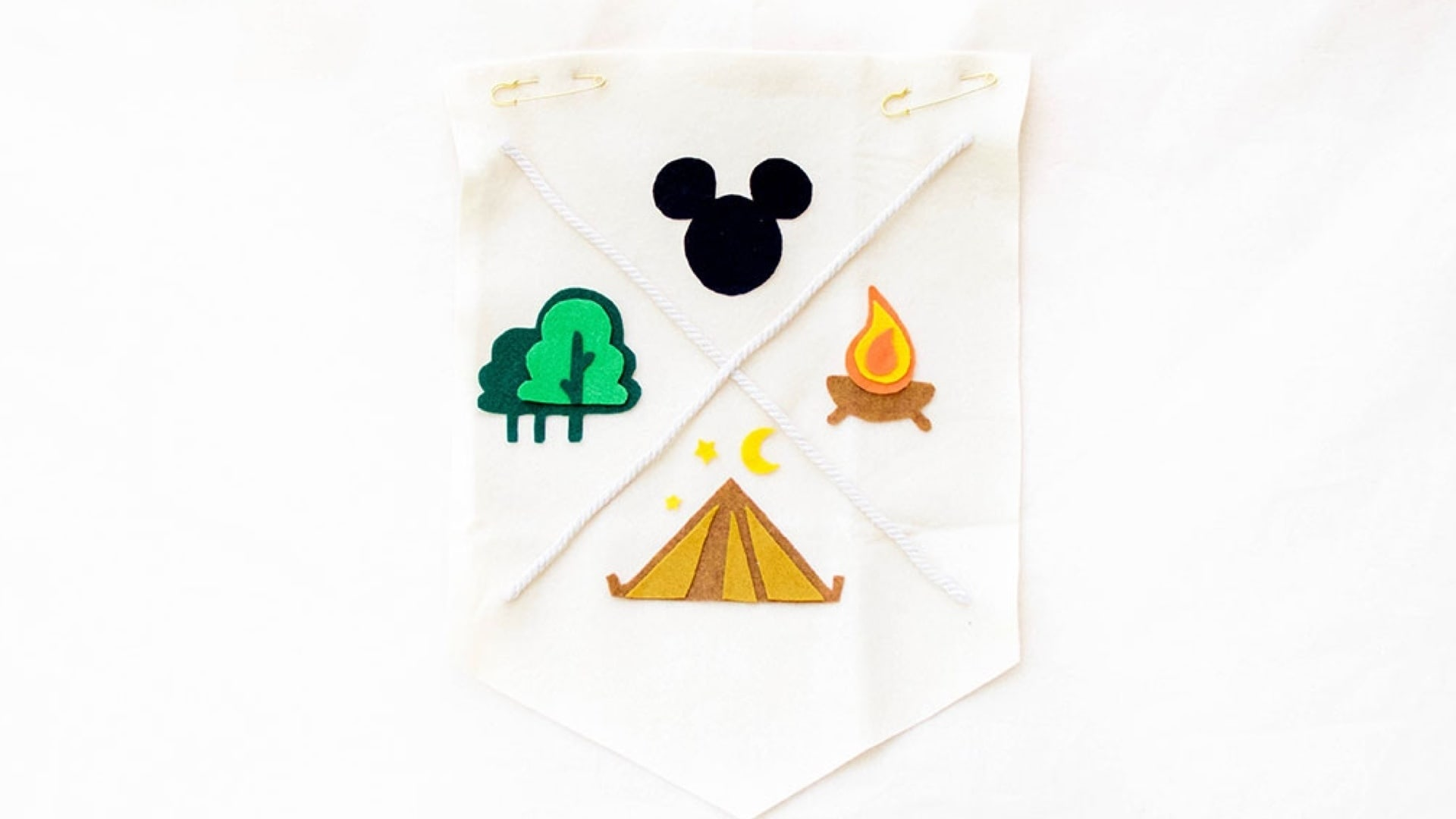 Mickey Campout Pennant Flag