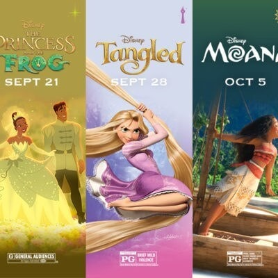 5 Disney Princess Movies Are Returning to the Big Screen at AMC Theaters This Fall