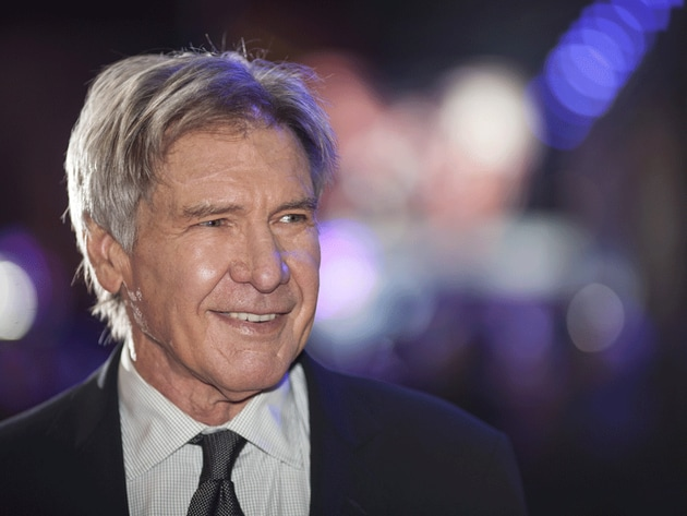 Harrison Ford (Han Solo) looked to be enjoying the atmosphere at The Force Awaken's European prem...