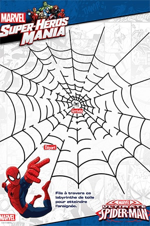 Labyrinthe spider man contre le l zard activit s spider man marvel kids fr - Jeux de spiderman 3 gratuit ...
